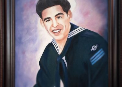 Tony Gutierrez portrait 1990 commission
