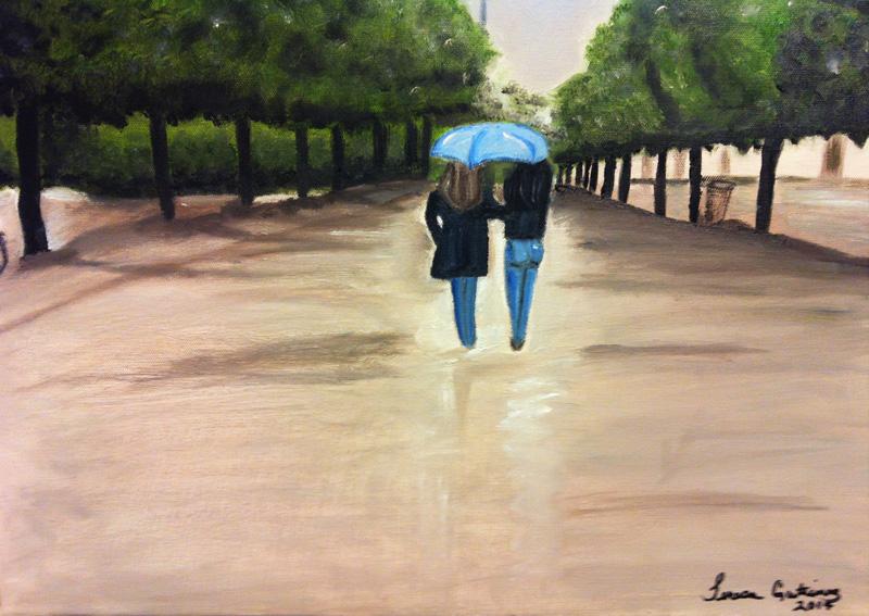 A walk in Paris - SOLD