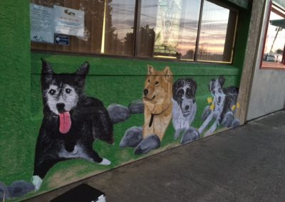 Our Pets/Family mural Rio Linda Veterinary Clinic