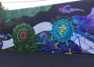 Transcendence mural Sol Fire Yoga Sacramento