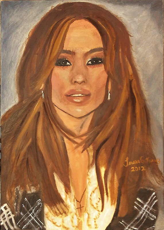 J-Lo portrait 2012 For Sale