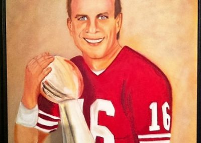 Joe Montana portrait - For Sale