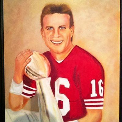 Joe Montana portrait - For Sale