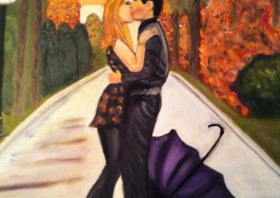 Kiss in the park - SOLD
