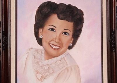 Ruth Gutierrez portrait 1990 commission