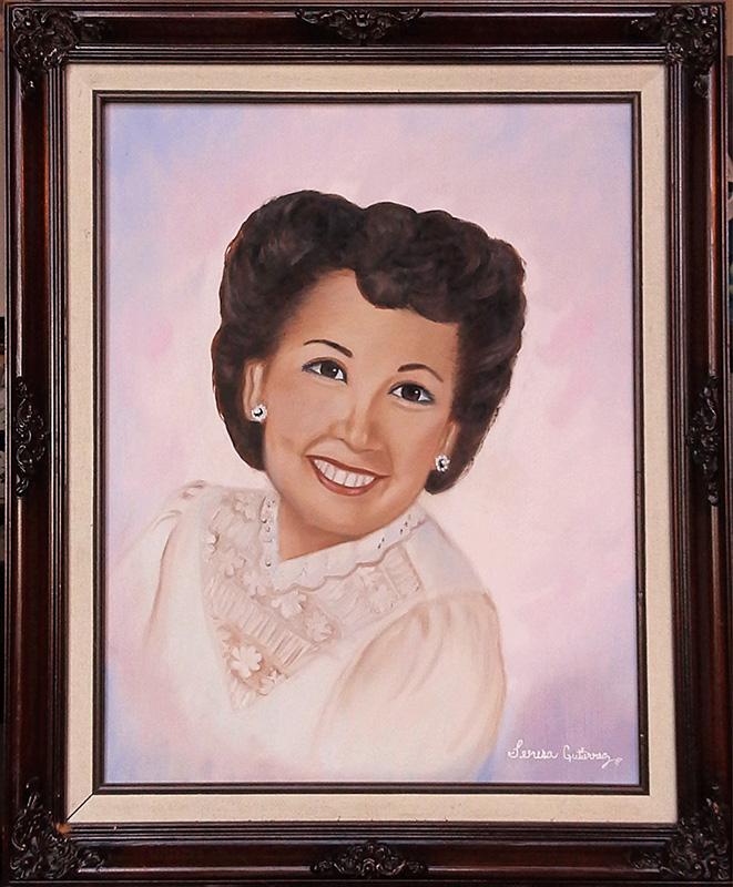 Ruth Gutierrez portrait 1990 commission