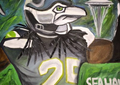 Seahawks portrait - SOLD