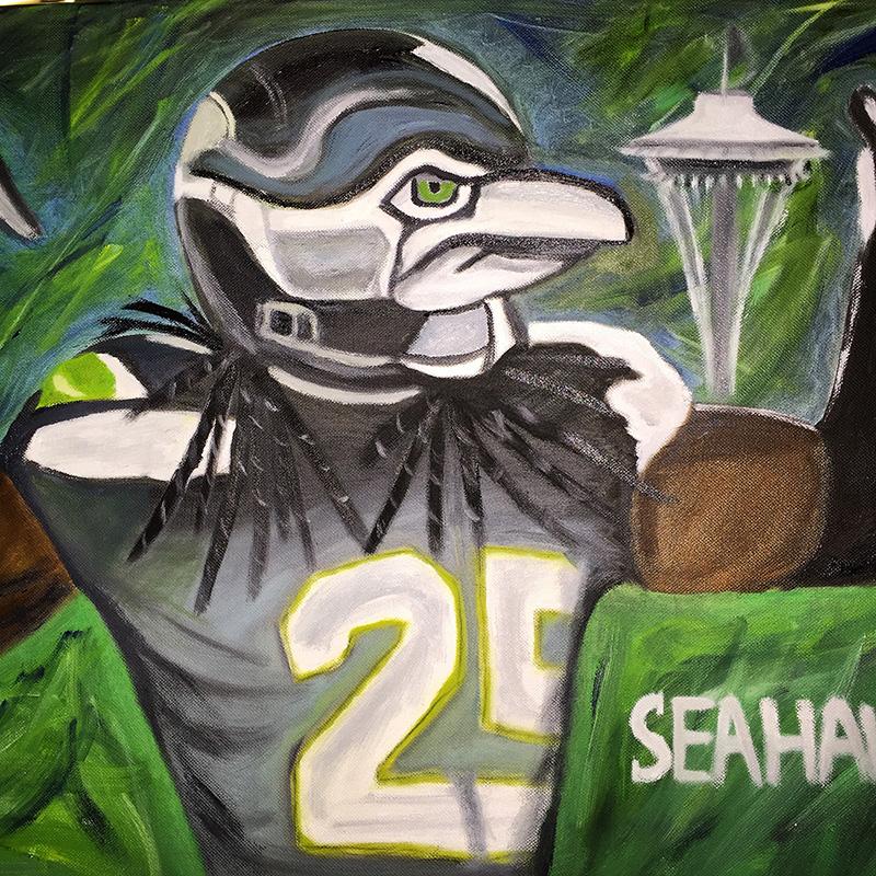 Seahawks portrait - SOLD