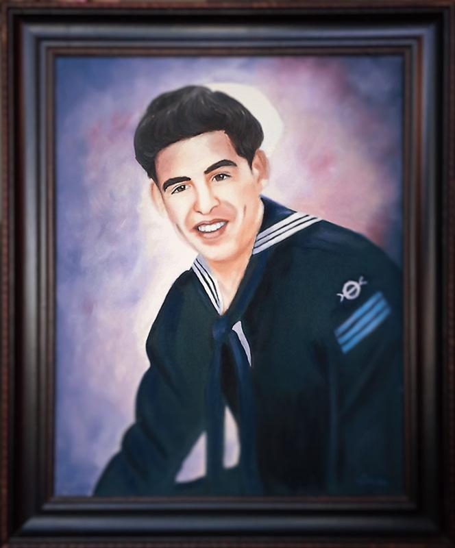 Tony Gutierrez portrait 1990 commission