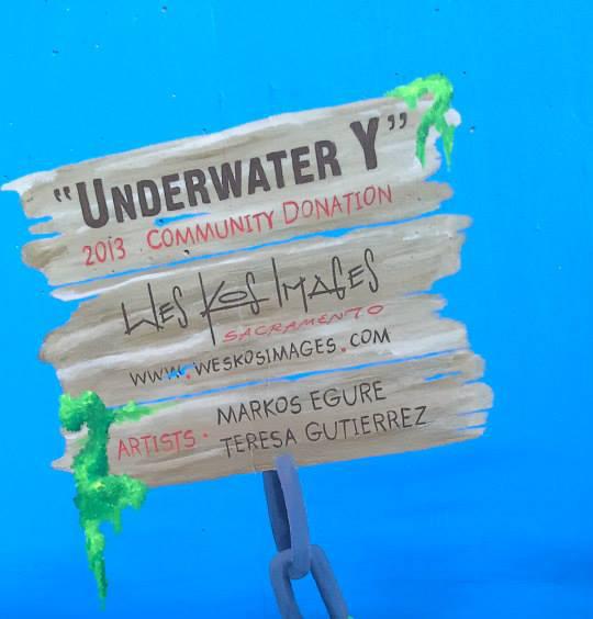 Underwater Y mural Sacramento CA