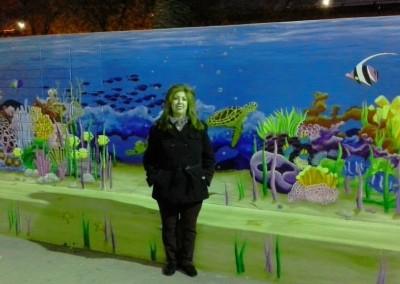 Underwater Y mural Sacramento, CA